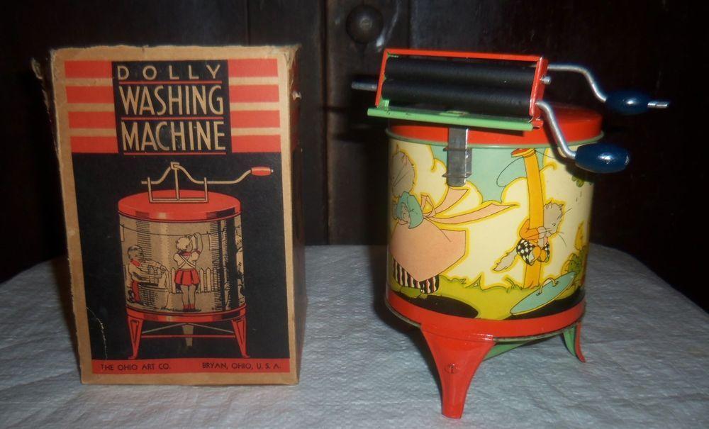 Vintage Antique Ohio Art Toy Kittens Dolly Washing Machine