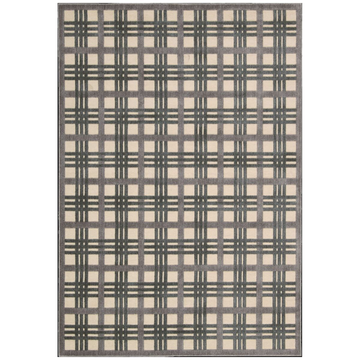 Nourison Graphic Illusions GIL20 Ivory Taupe Rug