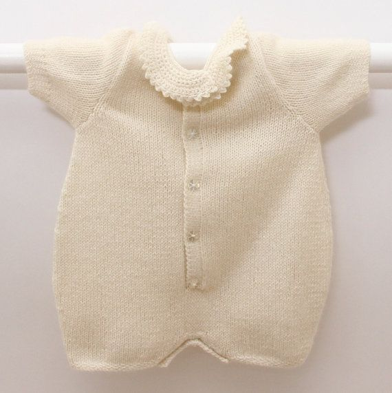 Knitting pattern Romper / Instructions in English / PDF Instant ...