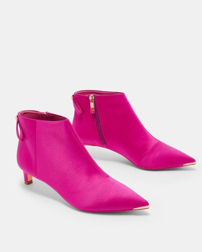 wide range best prices closer at Bright pink kitten heeled boots from Ted Baker