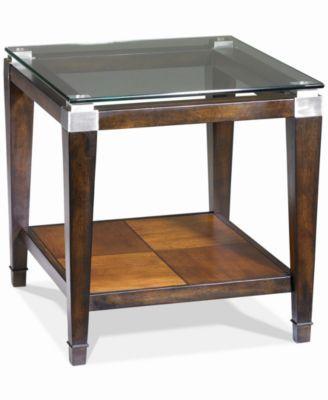 Astounding Silverado Glass Top Rectangular End Table Tables Table Beatyapartments Chair Design Images Beatyapartmentscom