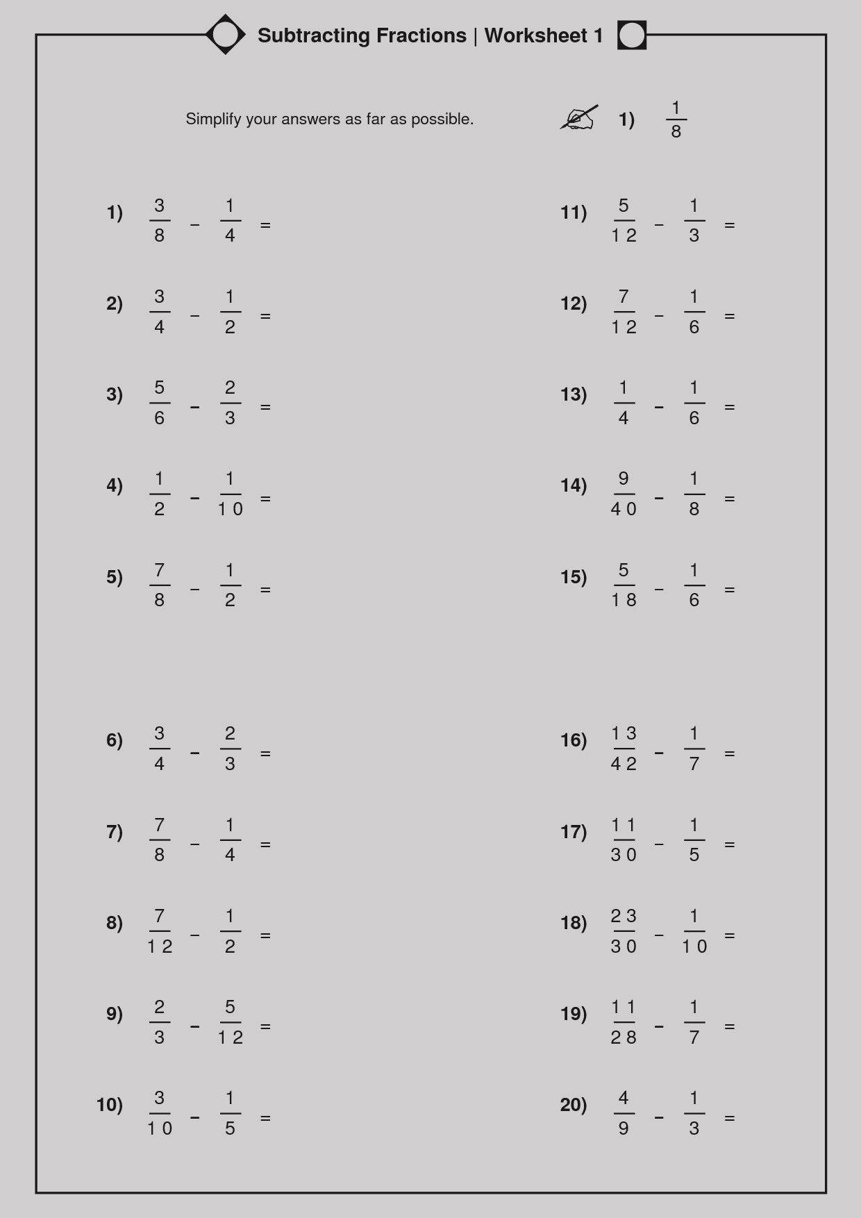 Converting Improper Fractions Worksheet Google Search Fractions Worksheets Math Worksheet Fractions