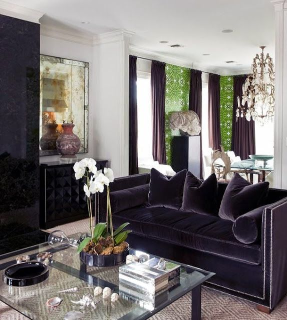 Black Sofa Anyone Yes Please Velvet Couch Living Room Couches Living Room Black Velvet Couch Living Rooms