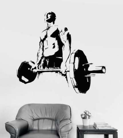 68+ Ideas Fitness Interior Gym Wall Decals For 2019 #fitness #wall