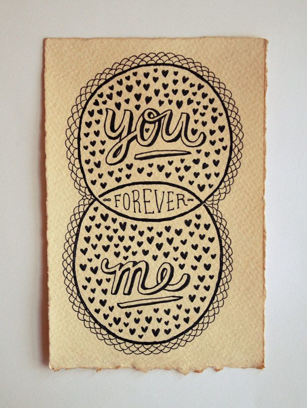 you + me = forever.