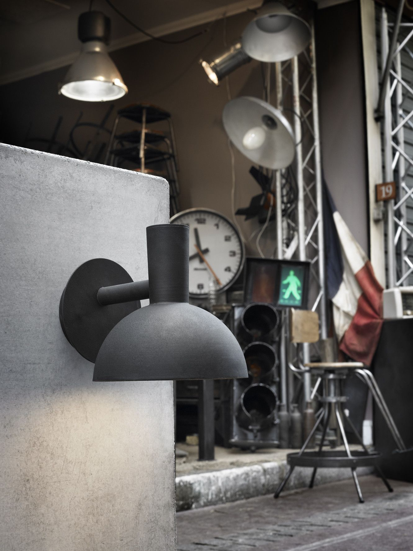 Nordlux Arki One Light Outdoor Wall Bracket in Black