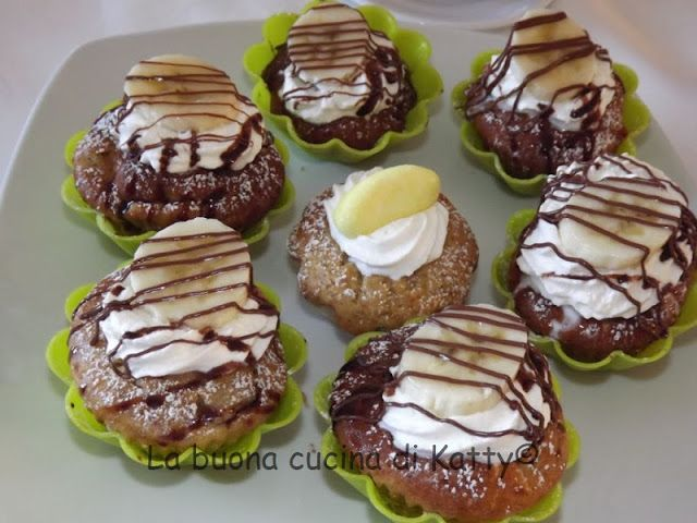 La buona cucina di Katty: Cupcake o muffins alla banana