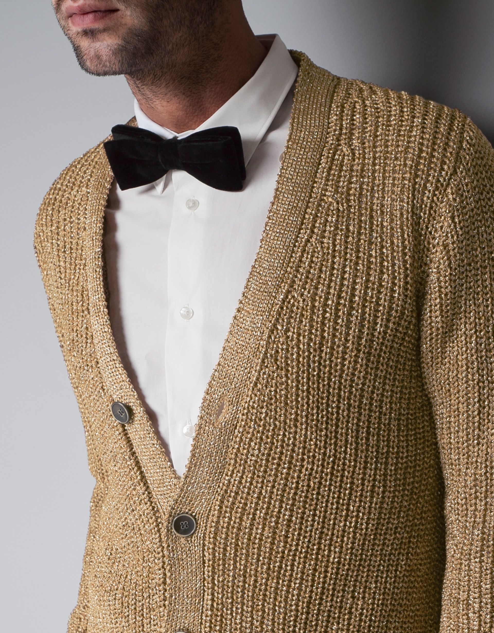 golden sweater & black bow tie | Black & Gold Party | Pinterest ...