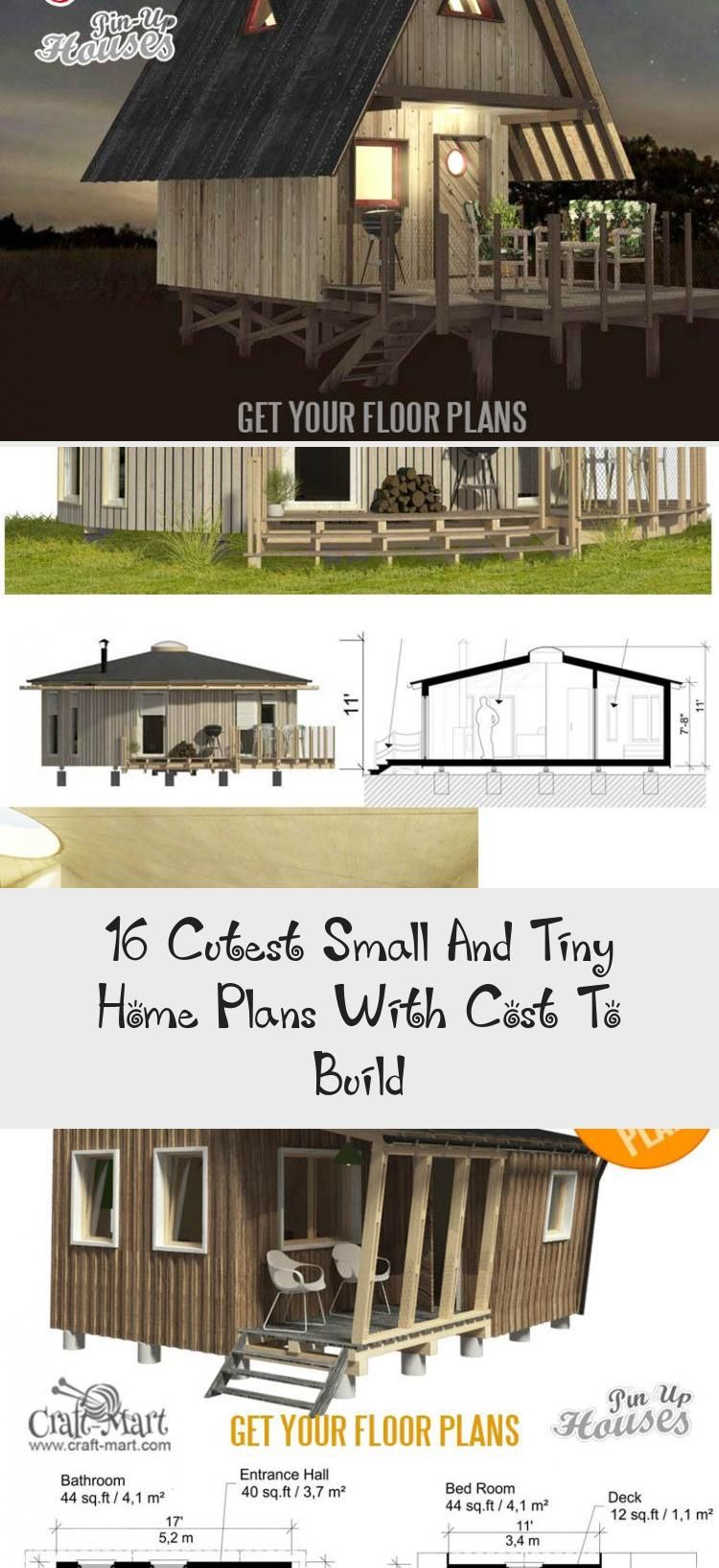 Small And Tiny Home Plans With Cost To Build Small Bungalow House Plans Mila Tinyhousevideos Tinyhousemovement Tin Tiny House Plans House Plans Tiny House