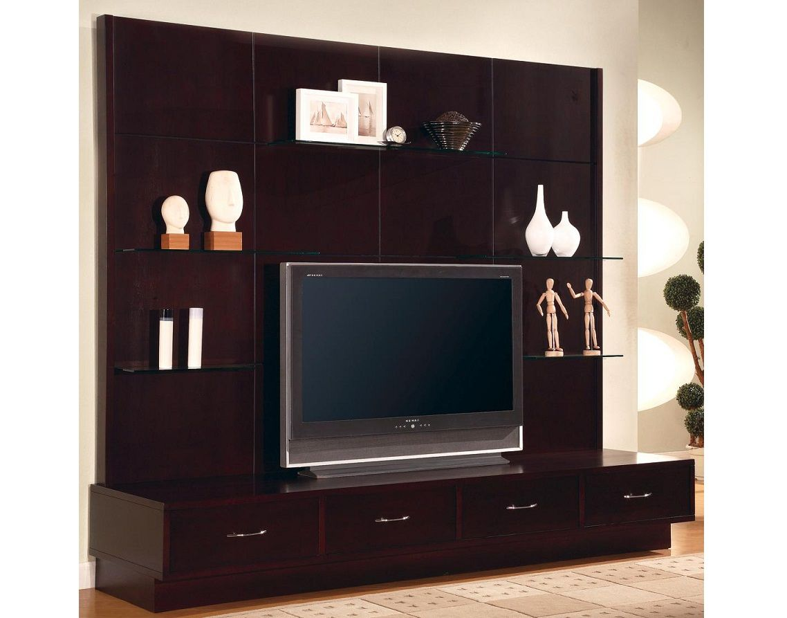 Delightful Modern Entertainment Units | Contemporary Entertainment Wall Unit  Cappuccino Wood Ebay Pictures