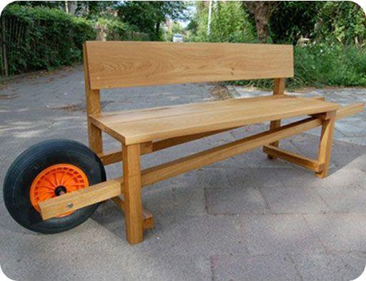 Banco de madera rustico banco rstico banco de madera for Bancas de madera para jardin