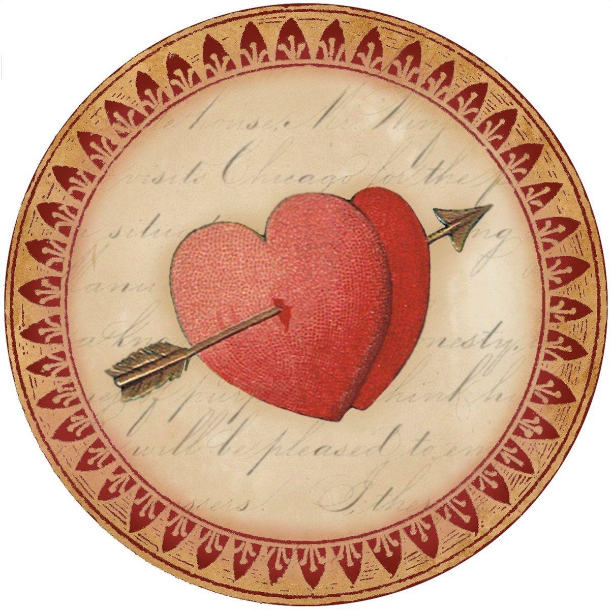 Close In Heart 4 Round Valentine S Day Graphic Tag Label Etc