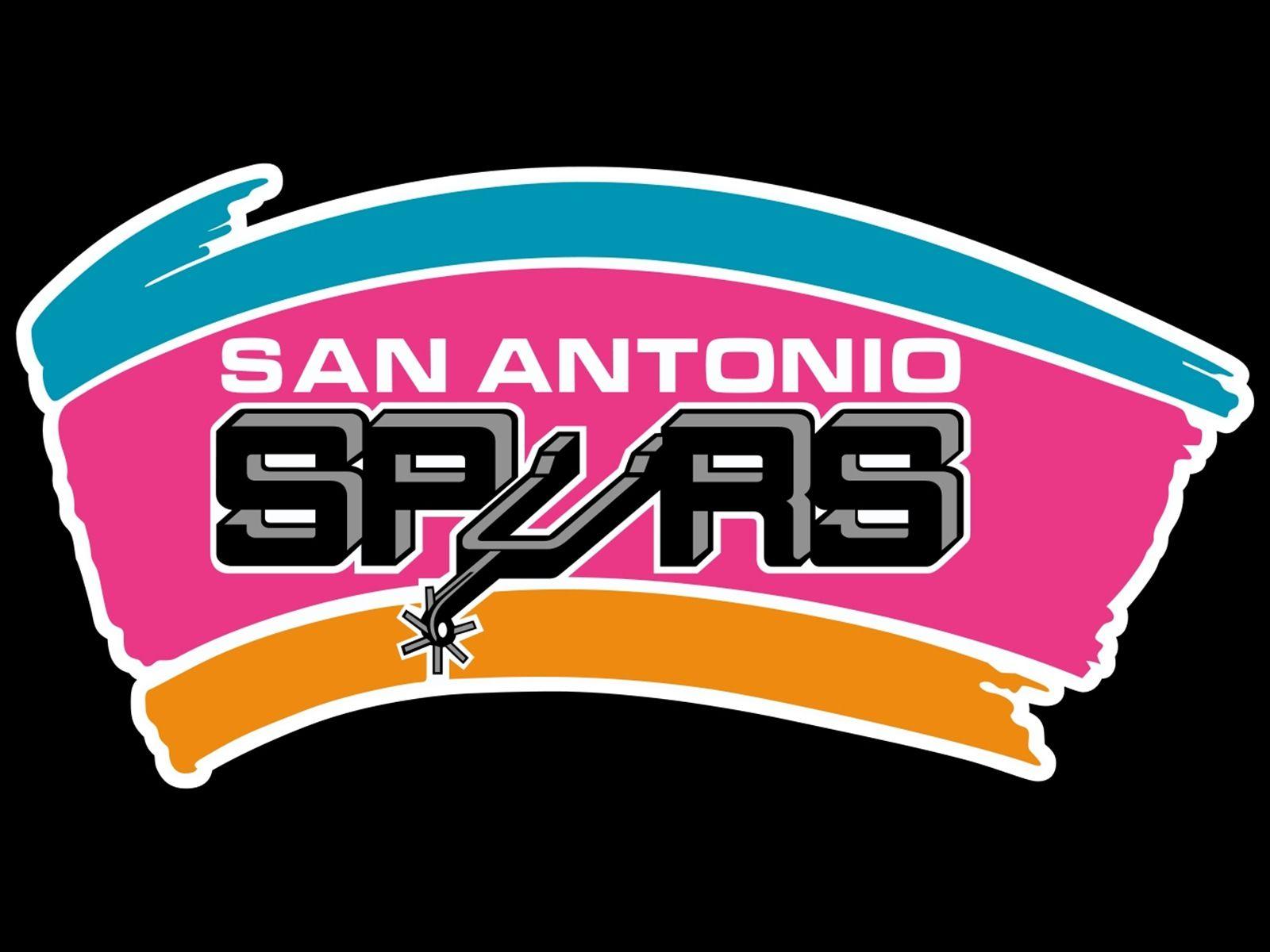 Old School Logo Black Background San Antonio Spurs