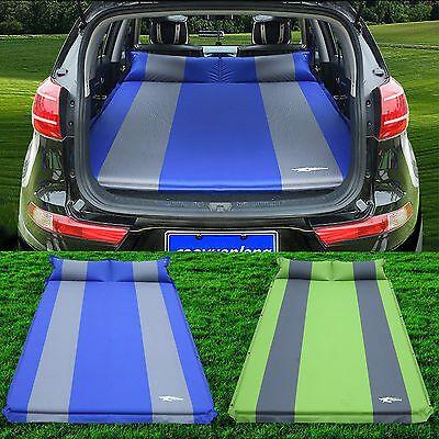 Air Bed Inflatable Travel Car Mattress Back Seat Sleep Rest Mat With Pillow/Pump