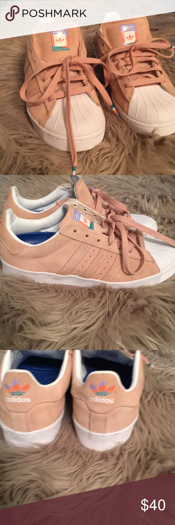 0dd3e24c936c Adidas Superstar Vulc ADV Pastel Pink Shoes NEW adidas Superstar Vulc ADV  Pastel Pink Shoes Size 6 men or 8 women. In excellent condition. Worn once  adidas ...