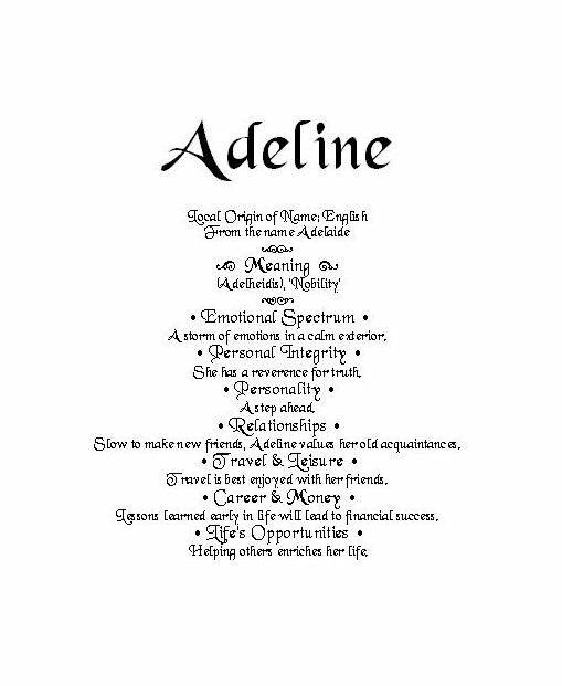 Signifido Nombre: Adeline #adeline #nombre #significado ...