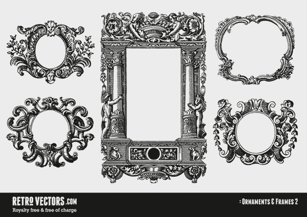 Gorgeous Free Vintage Frames Borders Ornaments Ii Classic Frames Vector Frame Decor Retro Vector