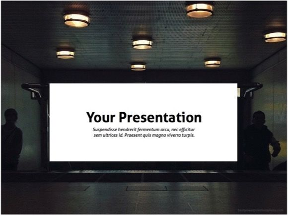 Empty Cinema Powerpoint Template. Free PPT theme. | Technology ...