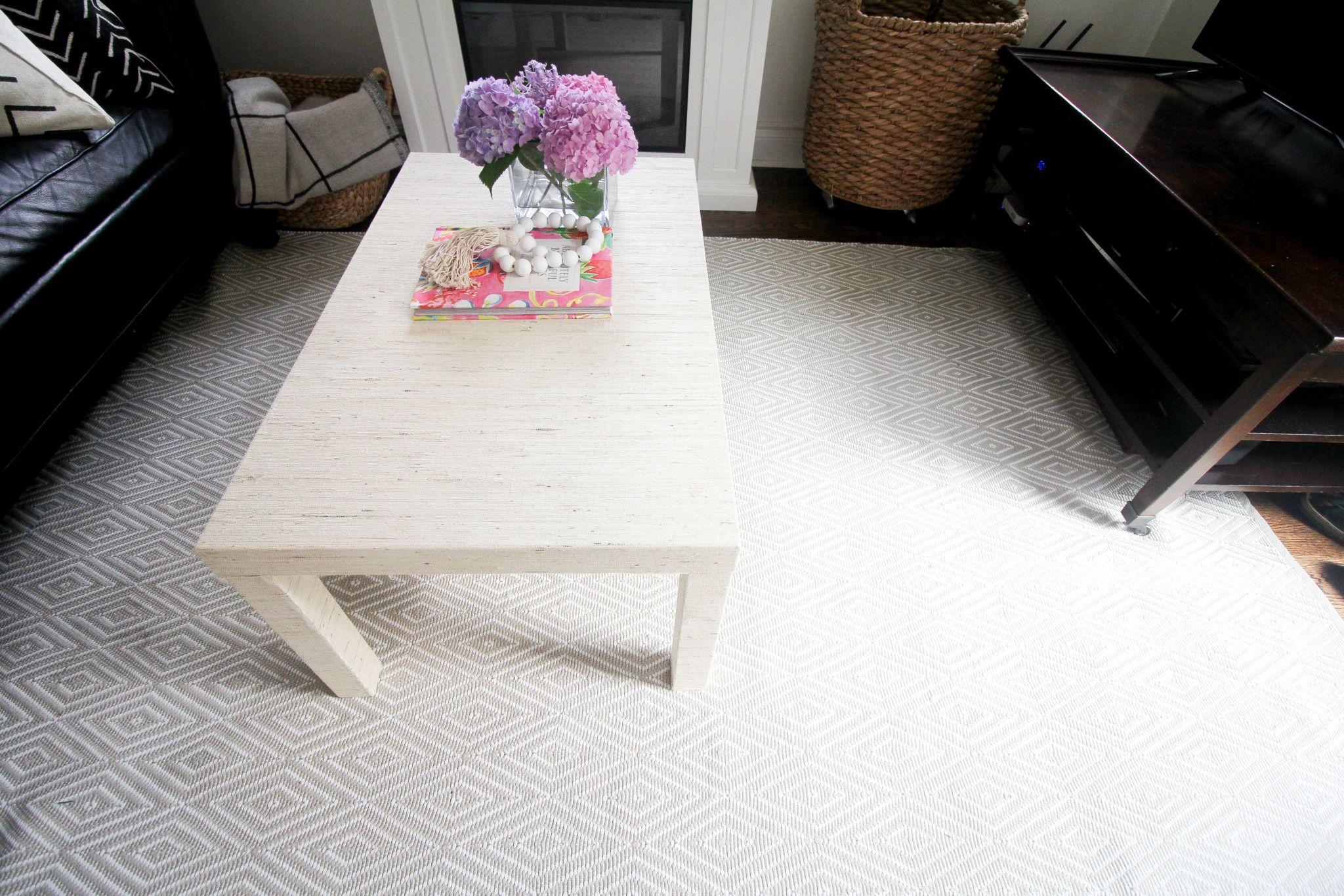 Ikea Hack / DIY Grasscloth Coffee Table | Ikea hack, Ikea ...
