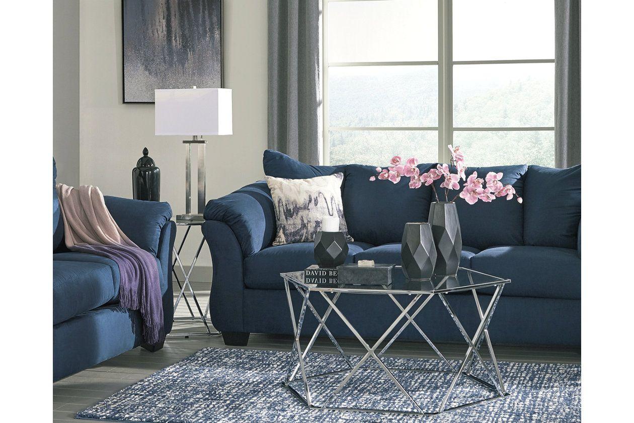 Aneko Pillow Ashley Furniture Homestore Blue Couch Living Room Blue Living Room Sets Blue Living Room