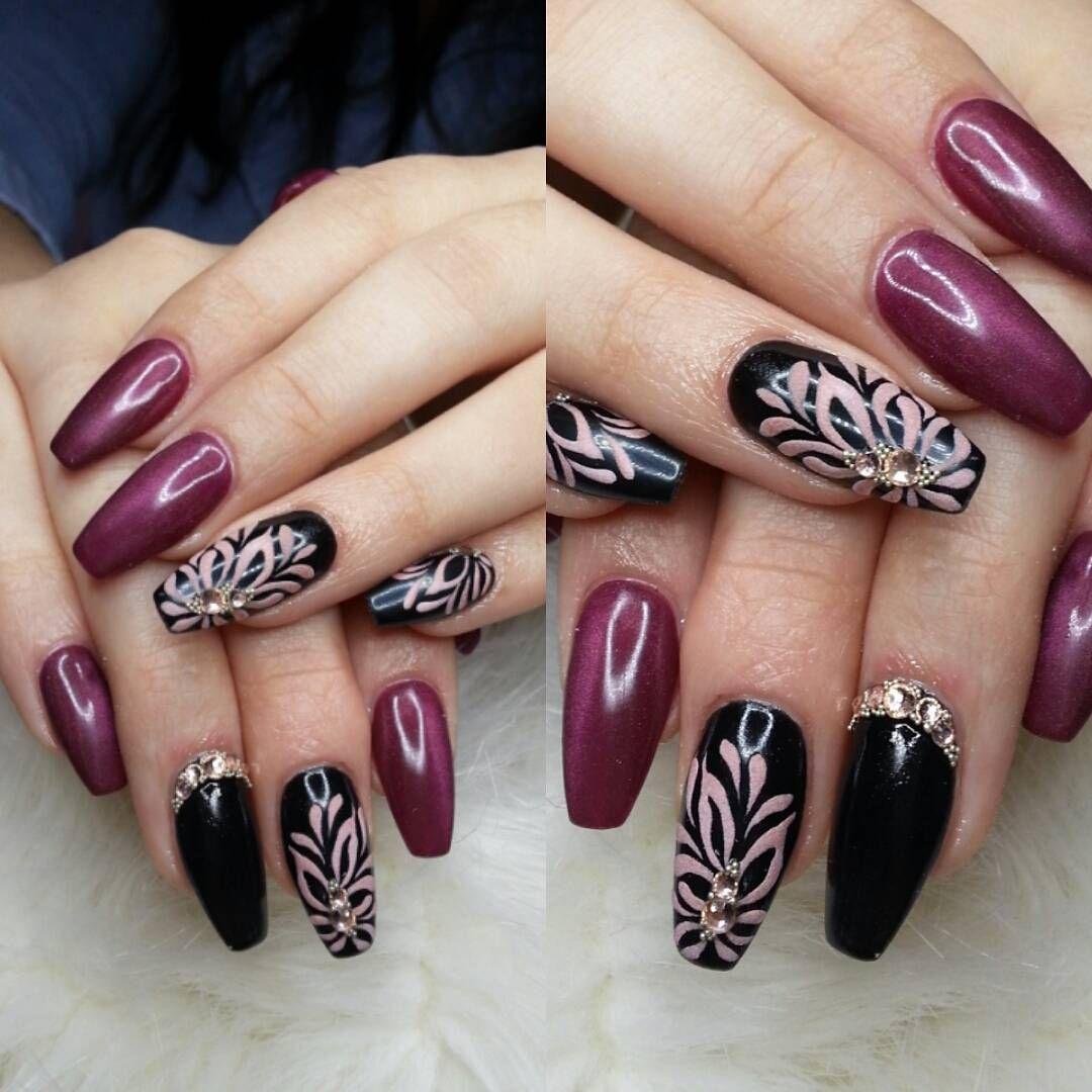 nail #nailporn #nailart #black #swarovski #stillsexy #indigonails ...