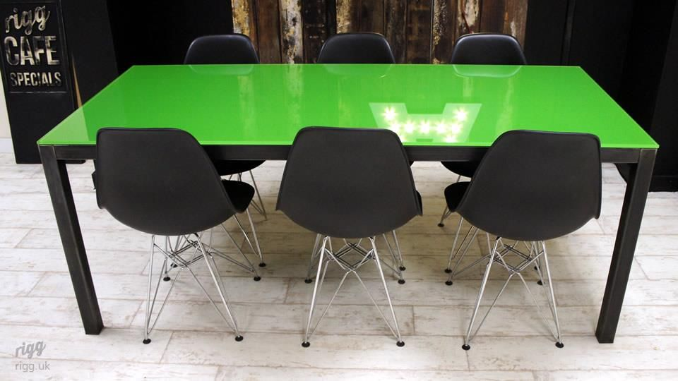 Green Glass Dining Table  Furniture  Pinterest  Glass Top Simple Glass Topped Dining Room Tables Design Decoration