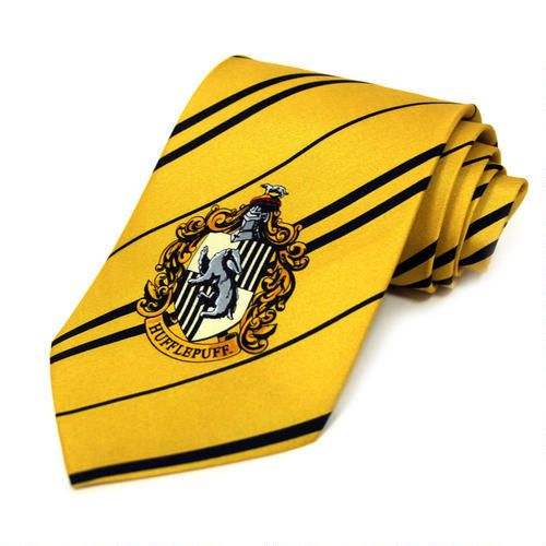 Hufflepuff Crest tie  http://www.harrypottershop.com/product/hufflepuff+tie+hpeptieh.do?sortby=bestSellers