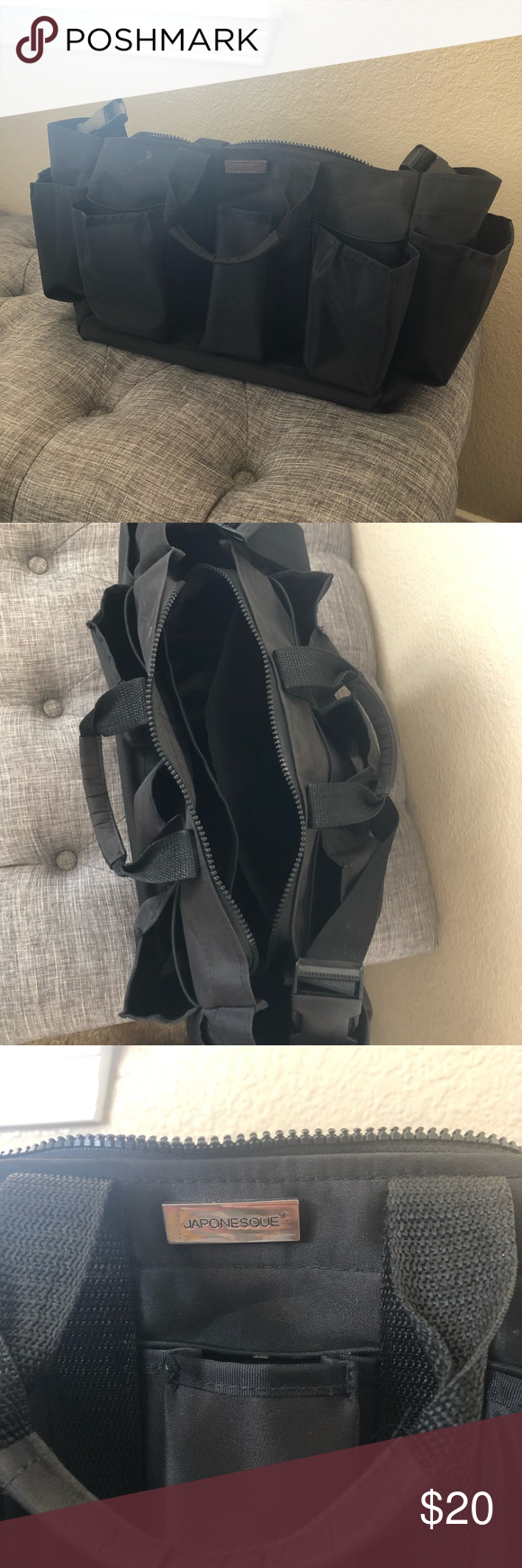 Japonesque Pro Set Bag Black set, Bags, Hair product storage