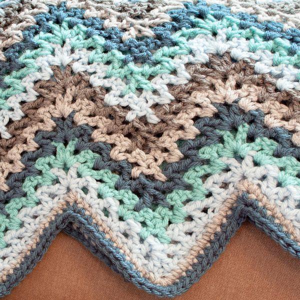 V-Stitch Crochet Ripple Afghan - The Yarn Box The Yarn Box   Blogger ...