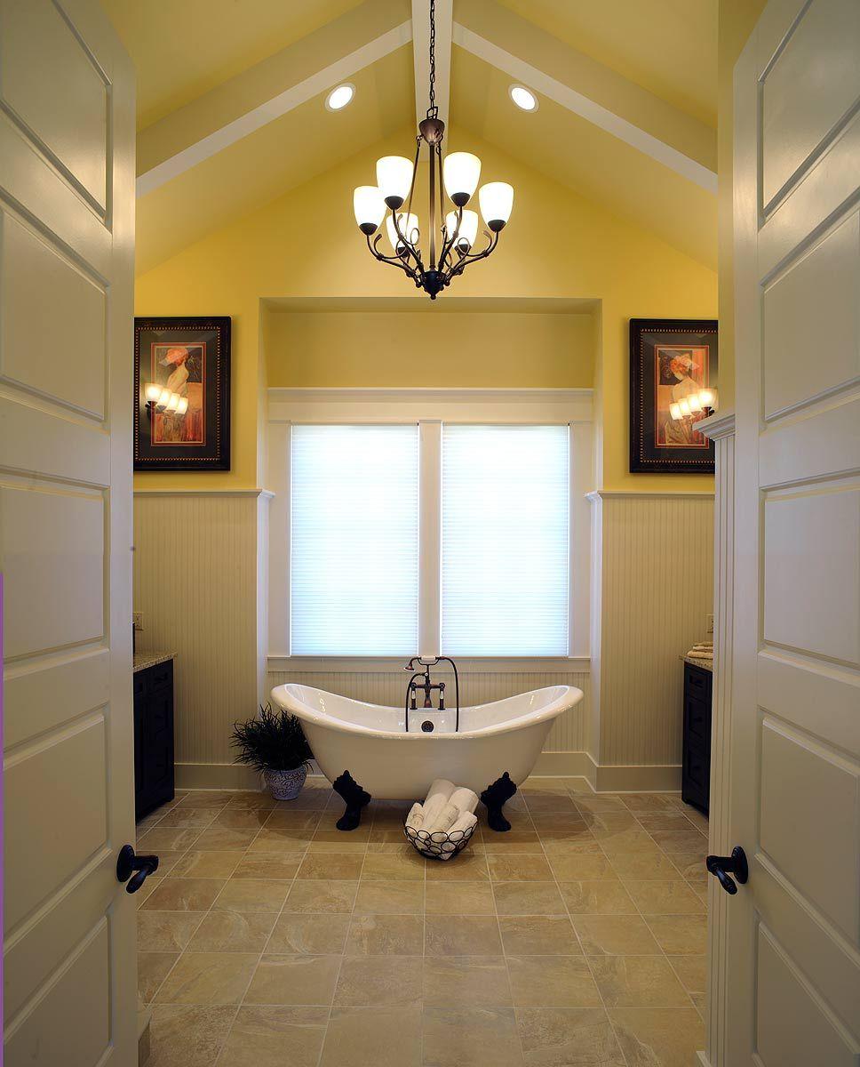 Custom Designed Master Bath Yellow bathroom decor