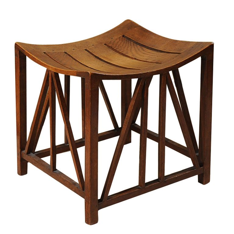 Phenomenal Egyptian Style Oak Thebes Stool Modern Stools Modern Dailytribune Chair Design For Home Dailytribuneorg