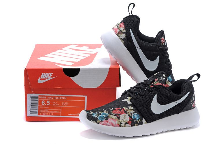 new concept 2bcd4 1c8a5 51% off Floral Pattern Nike WMNS Roshe Run Supremo Customs Red Pink Black  White Tick 2015 shoes