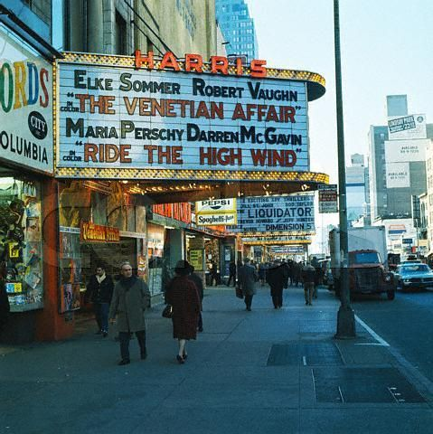 Harris Theater 42nd St New York City 1967 New York City Movie