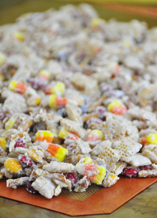 A New Twist On Party Snack Mix Includes White Chocolate Chex Cereal Fall MMs