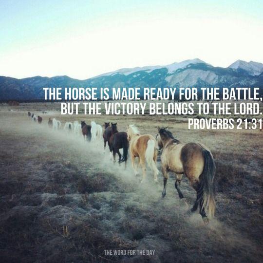 Horses Battle Bible Verse Inspiration