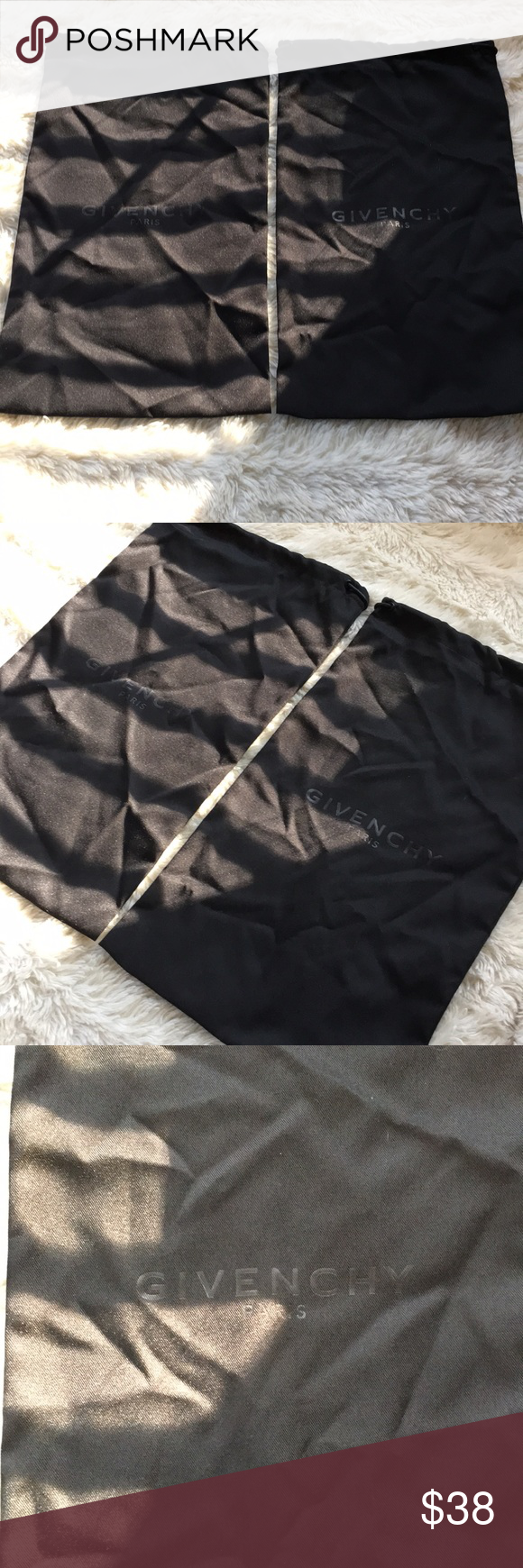 Givenchy shoes dust bags Great condition two black givenchy dust bag 15x8 Givenc Givenchy shoes dust bags Great condition two black givenchy dust bag 158 Givenchy Bags