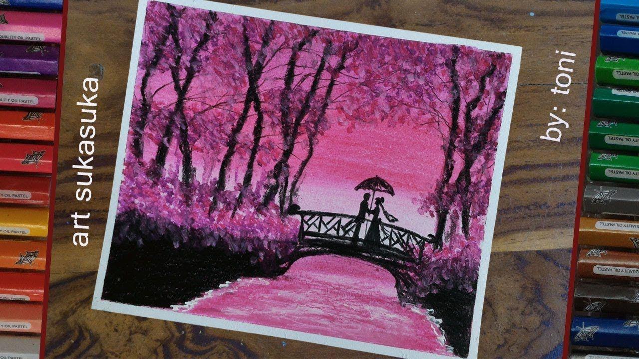 Cara Menggambar Pemandangan Dan Keindahan Alam Romantis