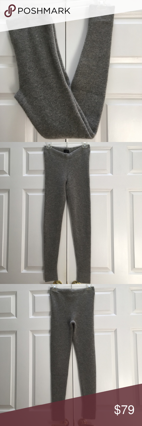 3891cc5521734 J Crew Collection Italian Cashmere Waffle Leggings J Crew Collection 100% Italian  cashmere waffle knit