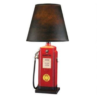 Retro Gasoline Pump Table Lamp $135.00
