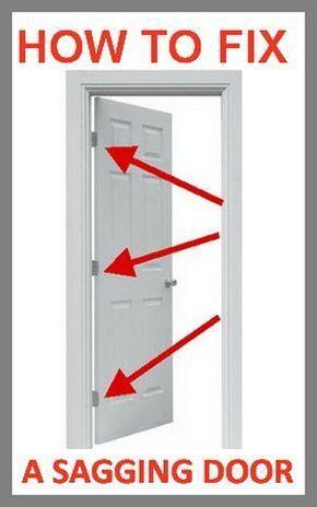 How To Fix A Door That Is Sagging Or Hitting The Door Frame | diy ...