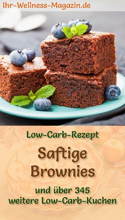 Rezept für saftige Low Carb Brownies: Der kohlenhydratarme Kuchen wird ohne Zucker und Getreidemeh