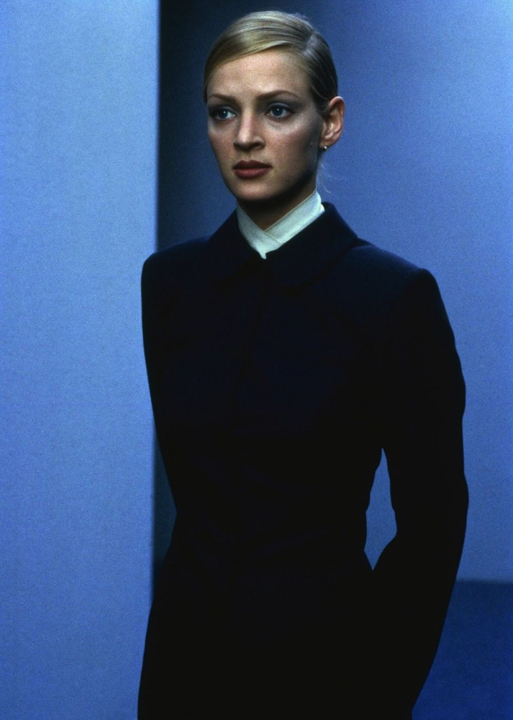 Uma Thurman in Gattaca | love her classic, elegant makeup and style