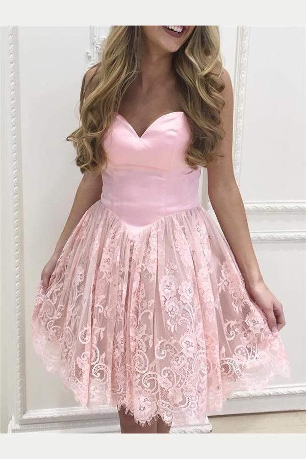 Homecoming Dresses Lace Homecoming Dress Custom Made Homecoming Dress Pink Homecoming Dress Homecoming Dress 2019 Homecoming Dresses 2019