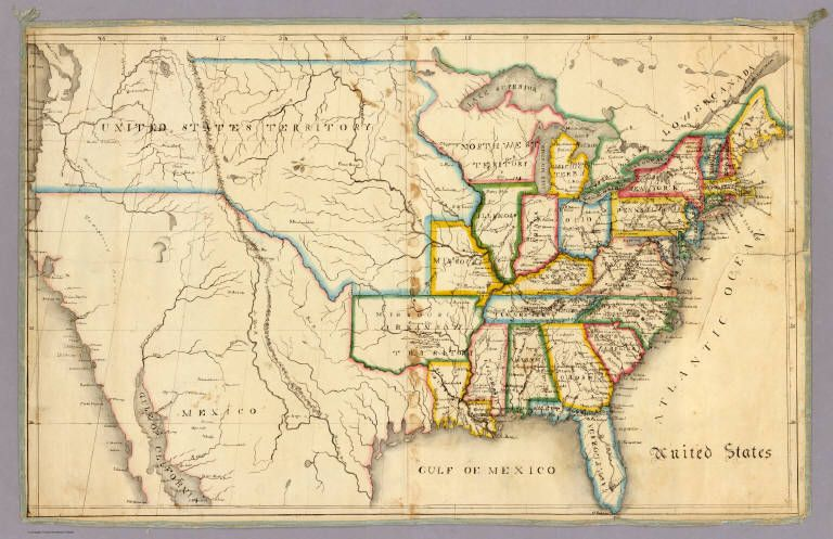 Amazing Maps Drawn By Children From An Astounding Collection - Map of us in 1805