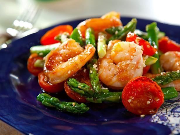 Sesame shrimp and asparagus stir fry recipe sesame shrimp rice forumfinder Image collections