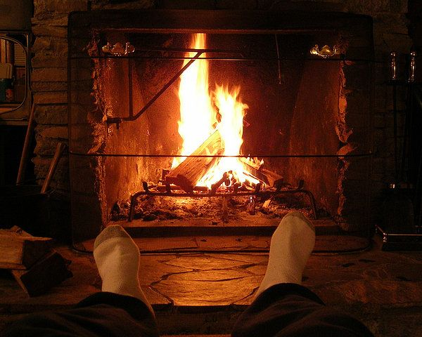 warm fireplace on a cold winter's night | Old Man Winter ...