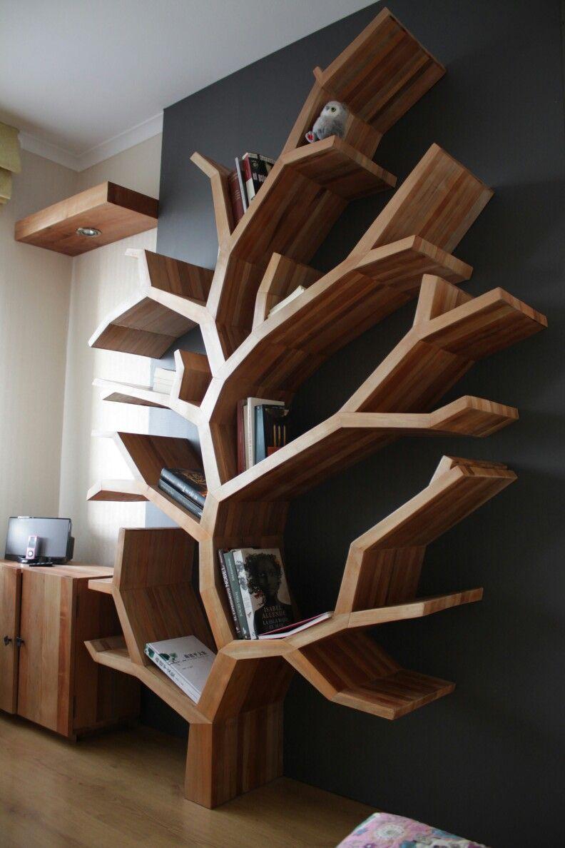 Librero rbol fabricaci n a medida nuestros proyectos - Libreros de madera modernos ...