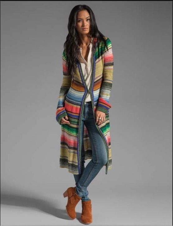 NEW Free People Pink Mulit-color Long-Sleeve Hooded Striped ...