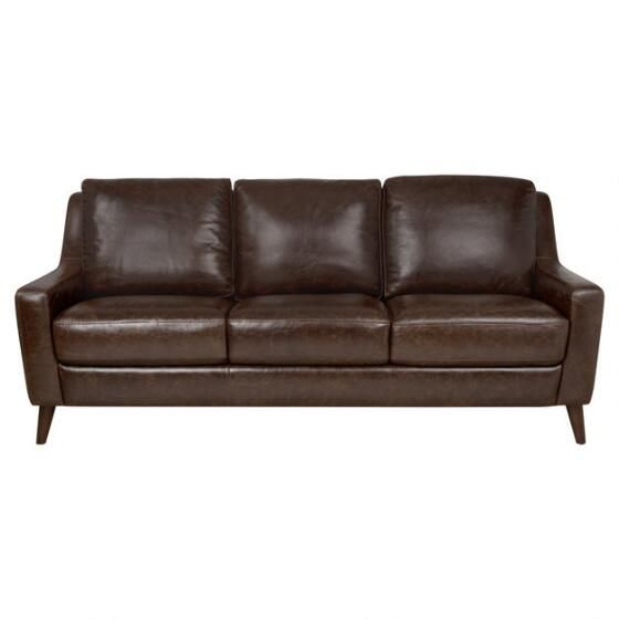 Orson Leather Sofa Vintage Brown Man Cave Vintage