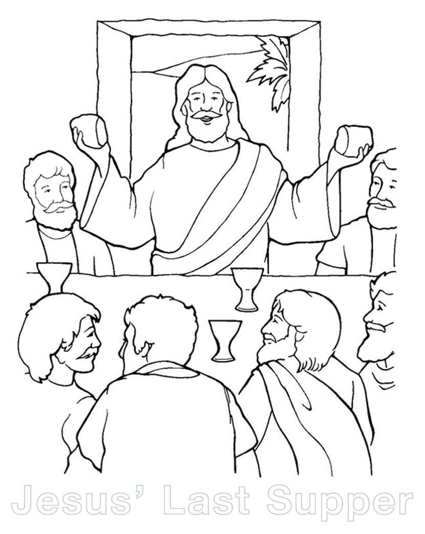 Jesuslastsupper Lg Jpg 830 1 043 Pixels Sunday School Coloring